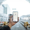 AudioFetch App Being Used at Train Station