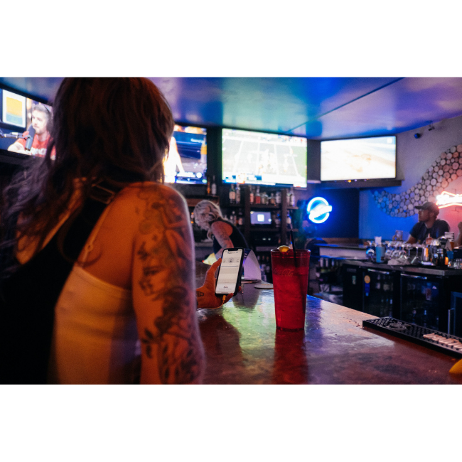 AudioFetch App Being Used at Sports Bar