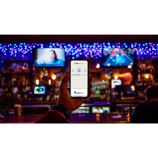 AudioFetch App in Bar