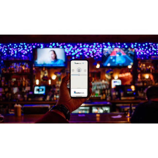 AudioFetch App in Bar