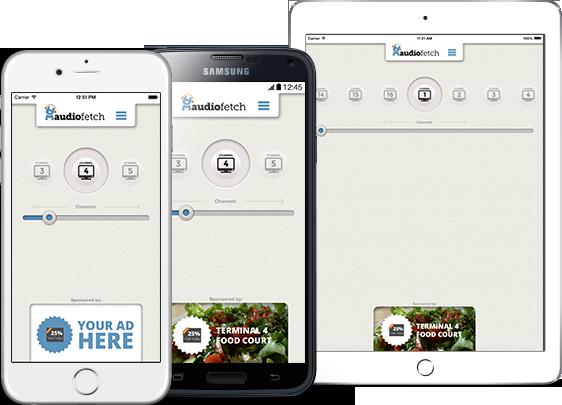 AudioFetch App Customization - Airport In-App Ads
