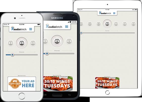 AudioFetch App Customization - Sports Bar In-App Ads