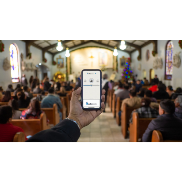 AudioFetch App Being Used During Church Service
