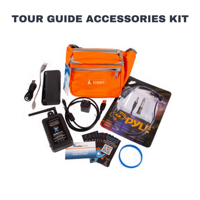 AudioFetch Express Tour Guide Accessories Kit