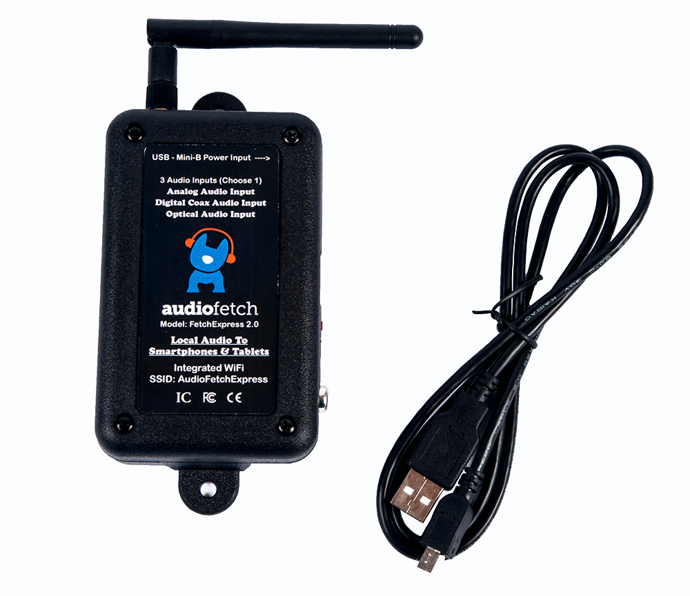 AudioFetch FetchExpress with Cable - Audio Over WiFi Streaming System