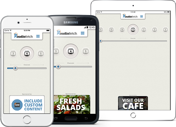 AudioFetch App Customization for Fitness - In-App Ads
