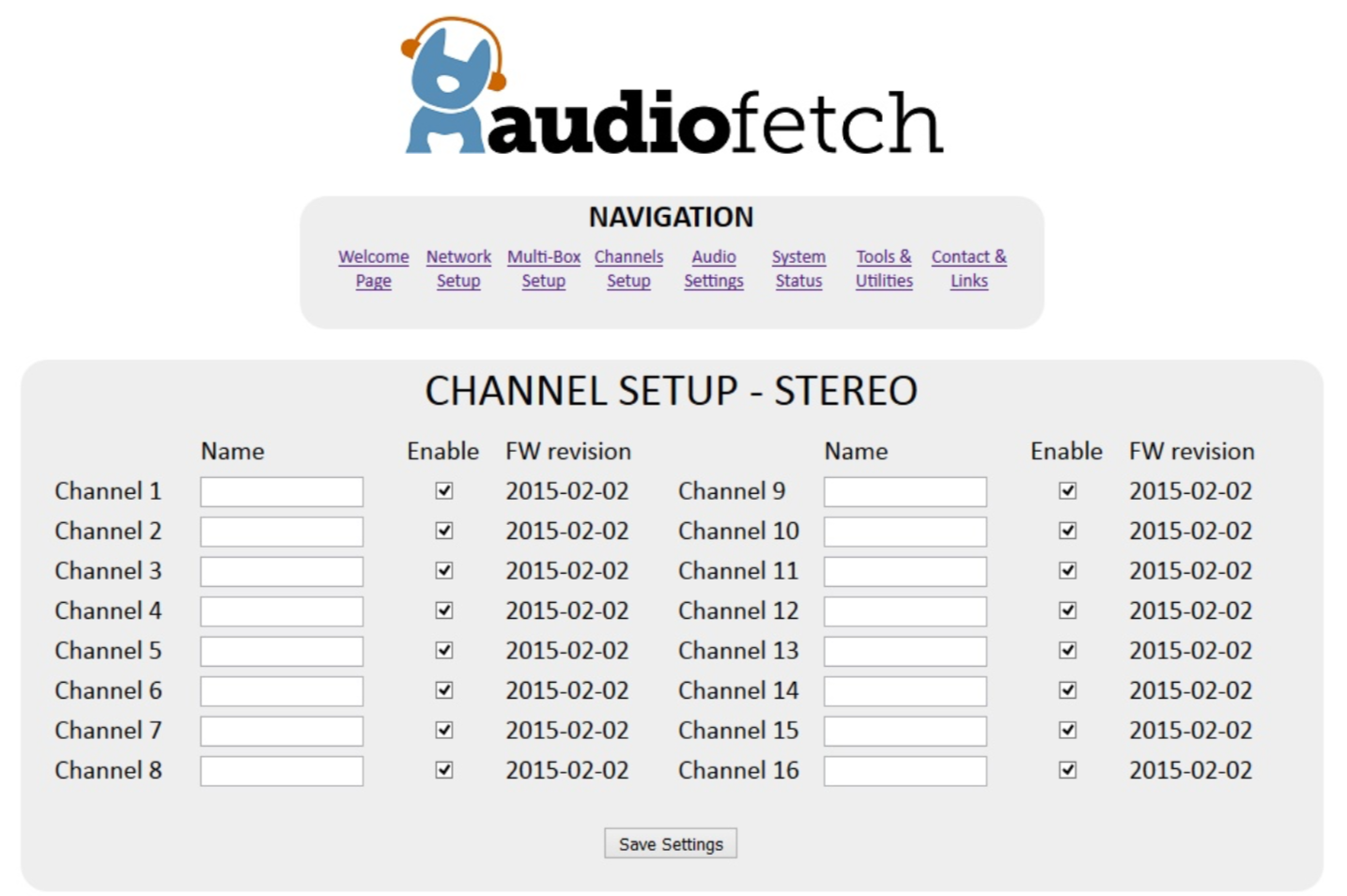AudioFetchDoghouse Channel Setup
