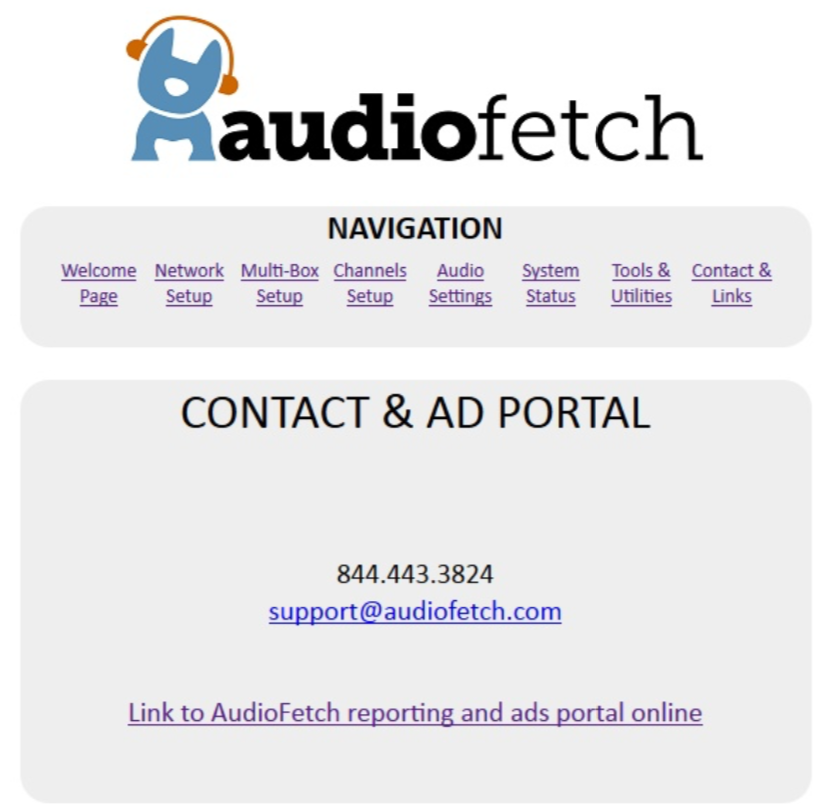 AudioFetch Doghouse Contact & Ad Portal