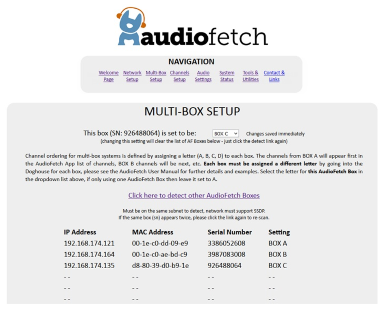 AudioFetch Doghouse MultiBox Setup 2