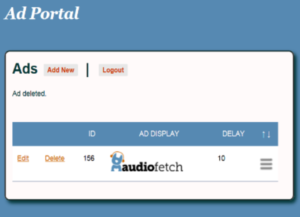 AudioFetch Ad Portal - Ads Created