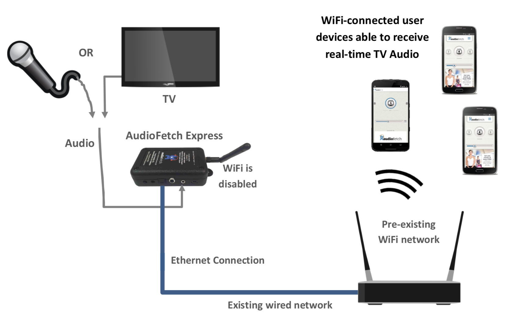 AudioFetch Express - Networking Mode - Wired Only