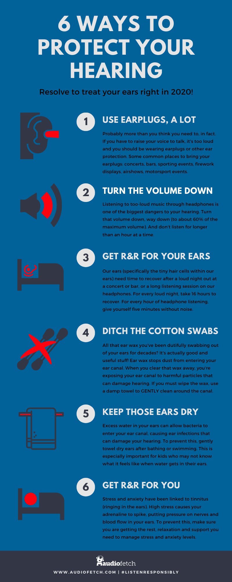 6 Ways to Protect your Ears Infographic