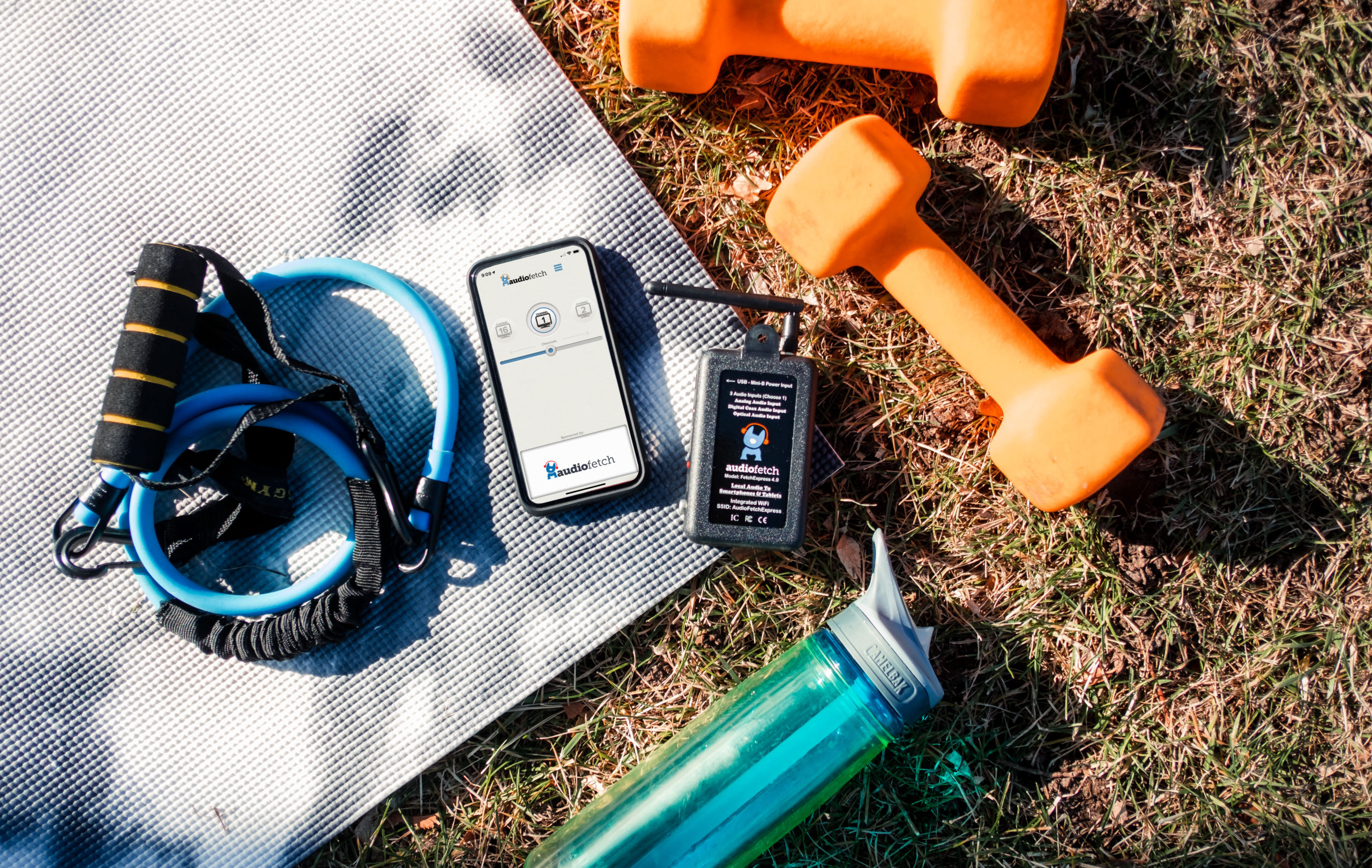 FetchExpress + AudioFetch App Outdoor Fitness Classes