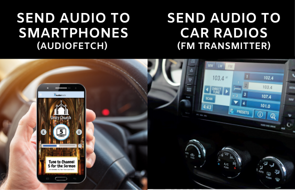 Using AudioFetch Express and FM Transmitter for Church Parking Lot Services