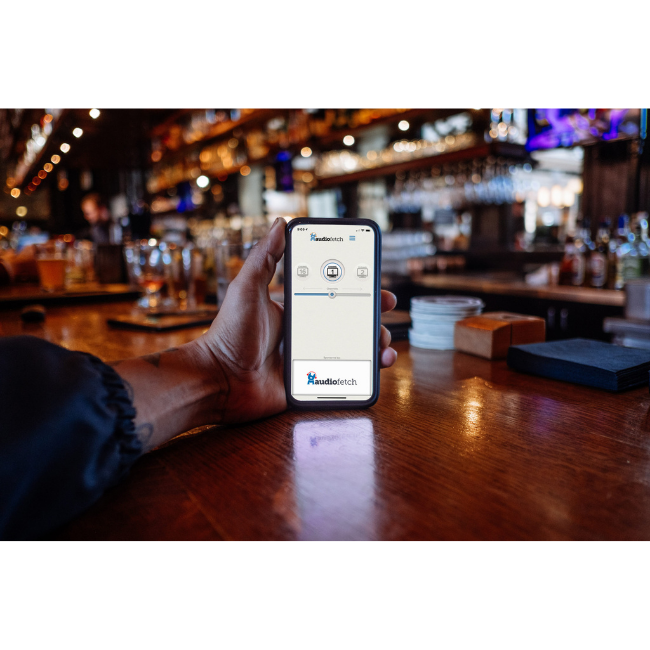 AudioFetch App in Bar - Hear TV at Sports Bar