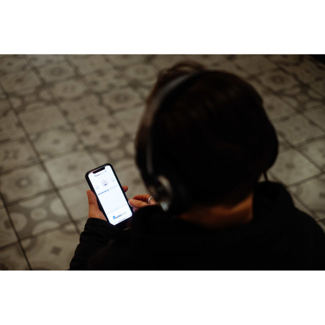 AudioFetch App in Use