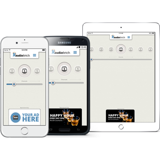 AudioFetch App with Ads for Casino