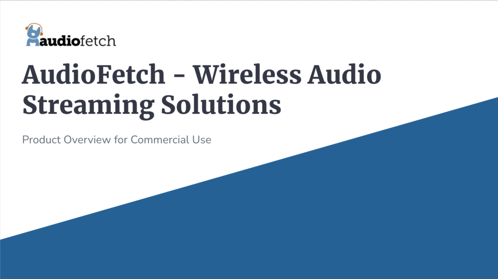 AudioFetch Webinar Thumbnail - AudioFetch Audio Over WiFi